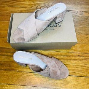 Francesca's Brown Suede Slip-Ons Size 8.5
